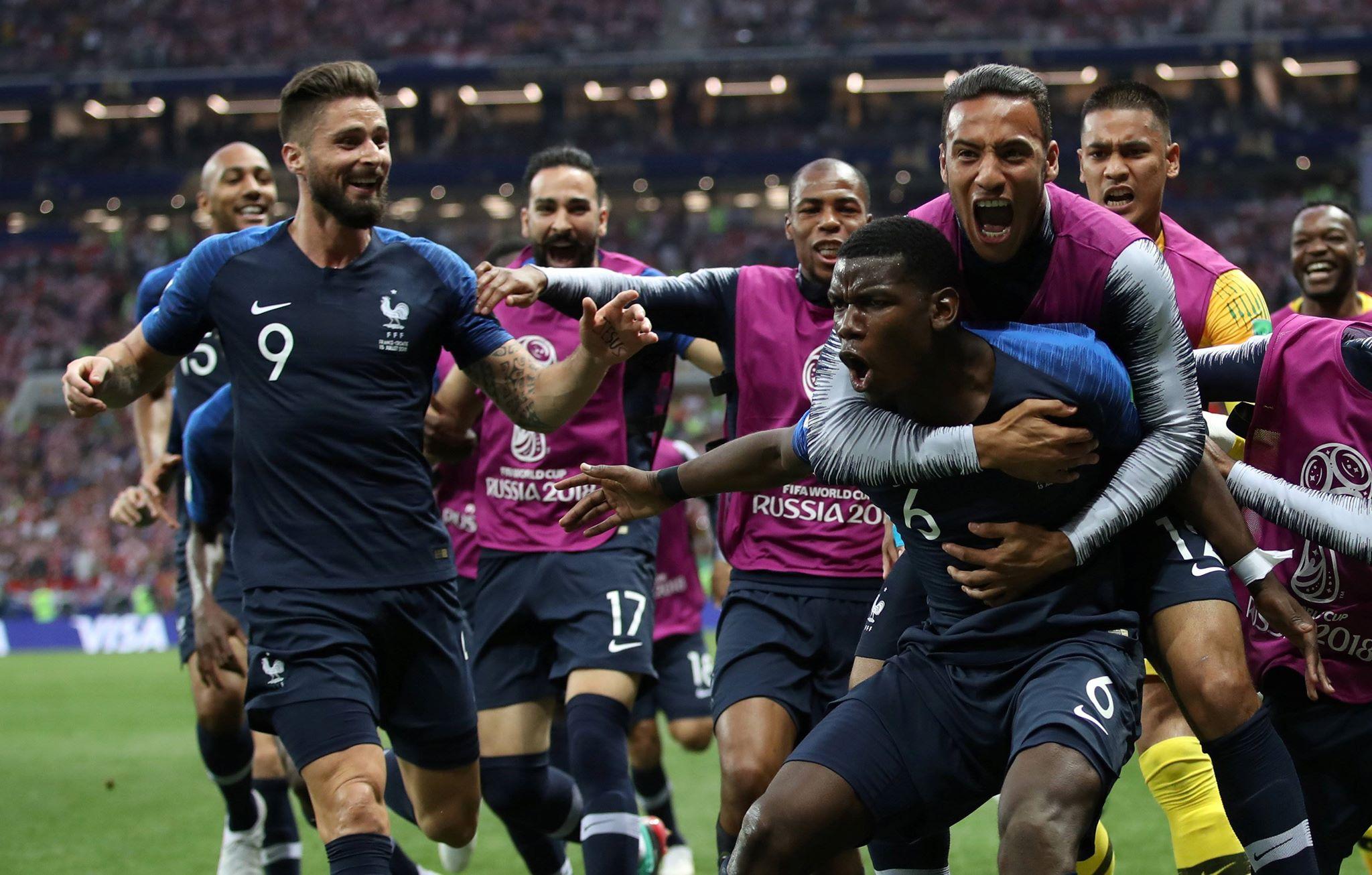 فرنسا تتوج بكأس العالم للمرة الثانية في تاريخها