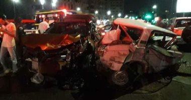 مصرع شخص وإصابة 6 آخرين فى حادثى سير ببنى سويف