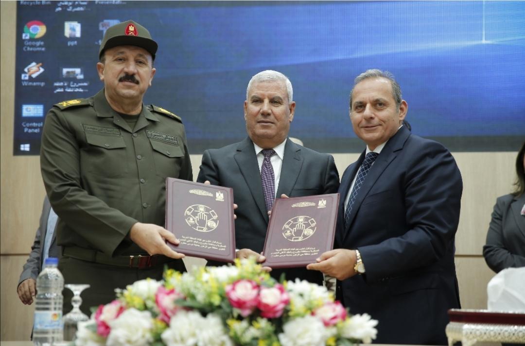 بروتوكول تعاون بين البنك الأهلي المصري وقيادة المنطقة الغربية العسكرية ومحافظة مطروح