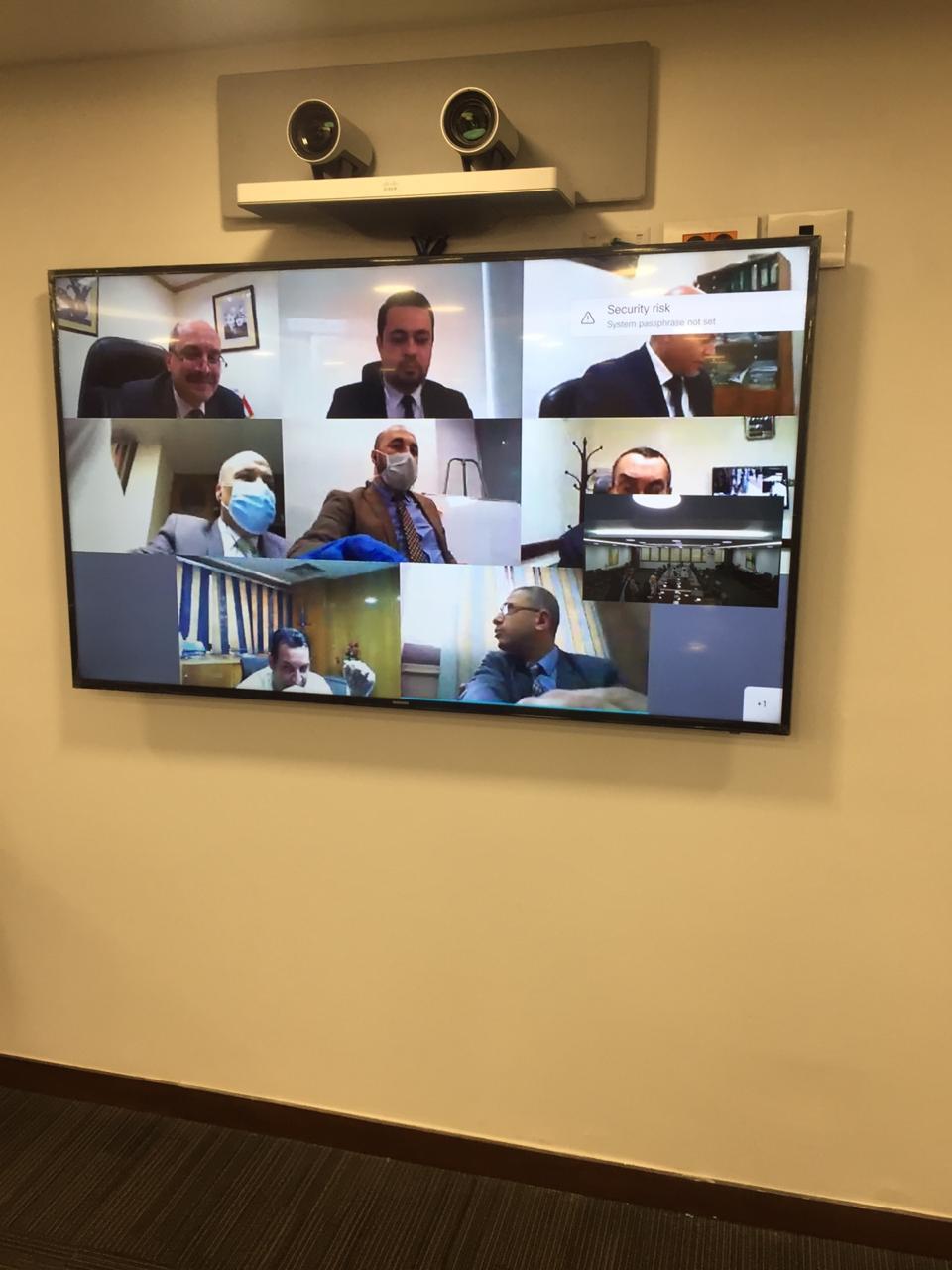 ماجد فهمى يجتمع مع مديرى ومسئولى الفروع عبر تقنية الفيديو كونفرانس