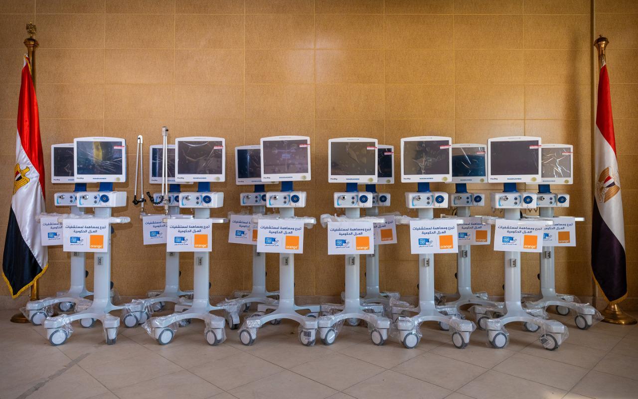 اورنچ مصر تساهم فى صيانة وإصلاح أجهزة التنفس الاصطناعي بالمستشفيات المصرية