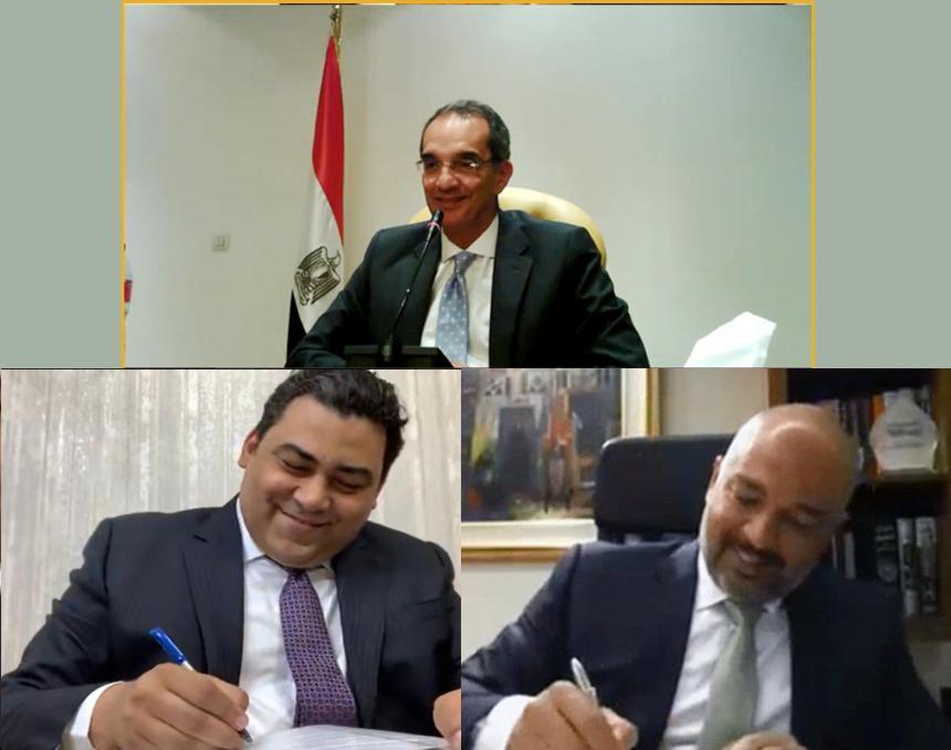 د. / عمرو طلعت  يشهد  اتفاقية بين