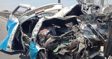 مصرع طالب حاصل على 99% بالثانوية العامة فى حادث تصادم بكفر الشيخ