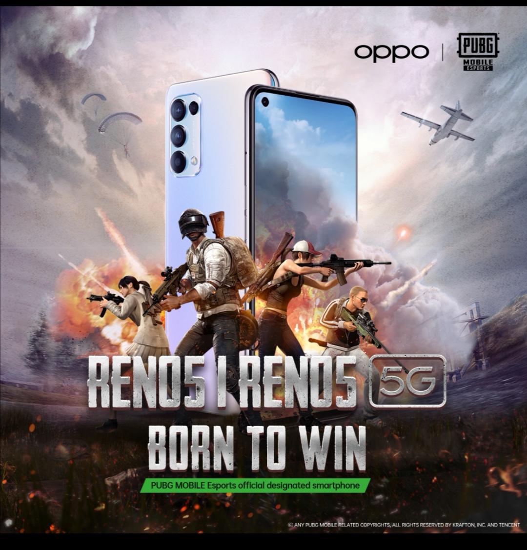 اختيار سلسلة هواتف OPPO Reno5 الهاتف الذكي الرسمي لمنصة الرياضات الإلكترونية PUBG Esports في منطقة الشرق الأوسط وأفريقيا لعام ٢٠٢١