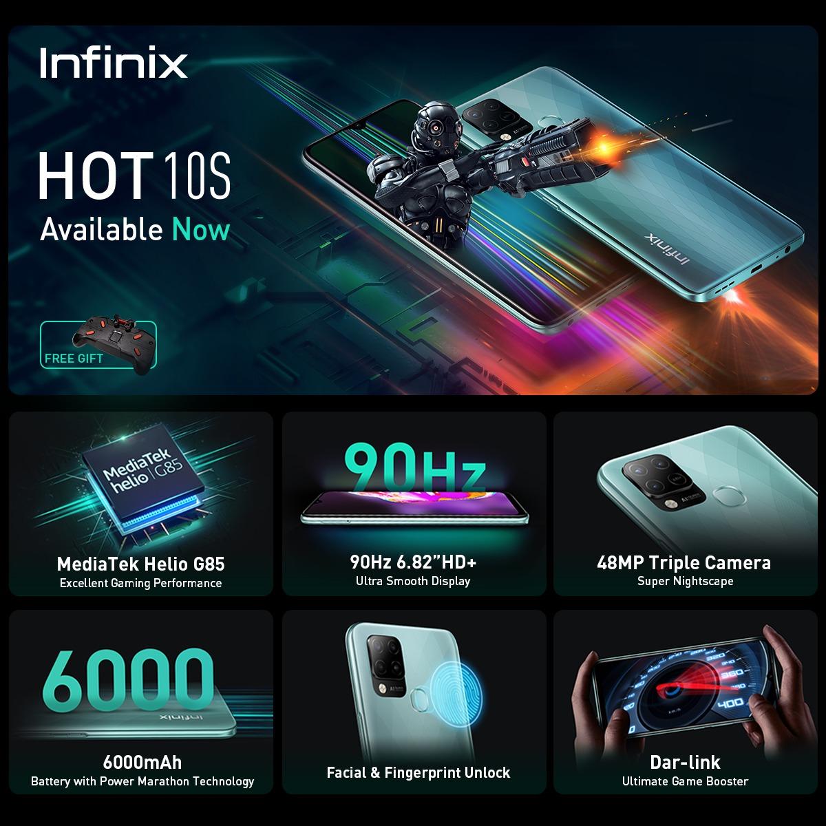 Infinix Hot 10S الاختيار الأفضل لعشاق ألعاب الهاتف المحمول